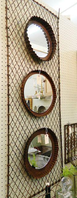 Repurposed tart tin as mirrors /homeologymodernvintage.com