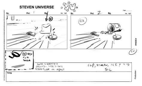 Storyboard From The Steven Universe Episode Tiger Millionaire