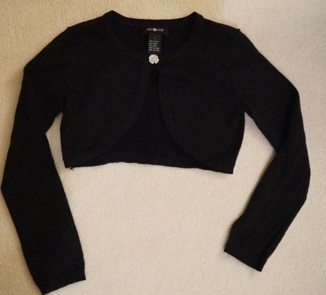 1e1d40b1c11 Girls sweater shrug Amy Byer black and sparkly silver size L ...