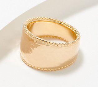 18mm brass ring jewelry creation minimalist jewelry Adjustable golden ring