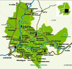 Mapa Ribeira Sacra Vino De Espana Espana