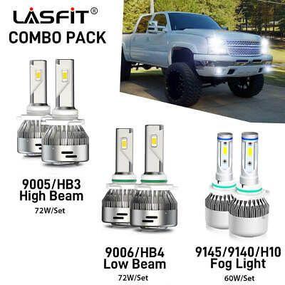 Combo Led Headlights Fog Lights Bulbs For Chevy Silverado 1500 2003 2006 6pcs Ebay In 2020 Led Headlights Chevy Silverado 1500 Chevy Silverado