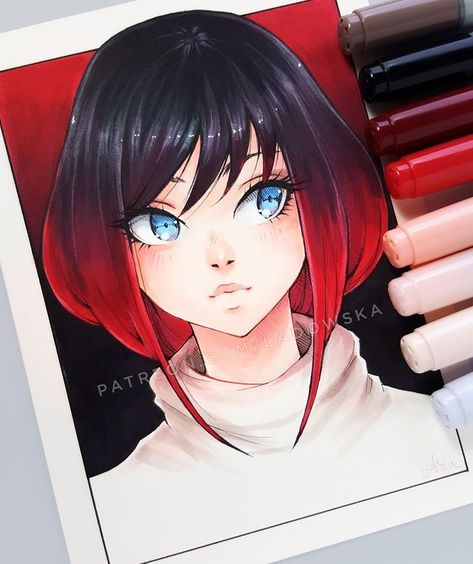 Marvelous Learn To Draw Manga Ideas. Exquisite Learn To Draw Manga Ideas. Marker Kunst, Copic Marker Art, Copic Art, Copic Drawings, Art Drawings Sketches, Cute Drawings, Copic Kunst, Arte Copic, Anime Art Girl