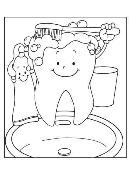 I Brush My Teeth Brush My Teeth Coloring Pages Brushing Teeth