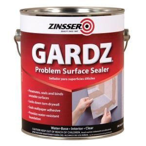 Zinsser Gardz 1 Gal Clear Water Based Interior Problem Surface Sealer 4 Pack 2301 Painting Over Wallpaper Wall Sealer Surface