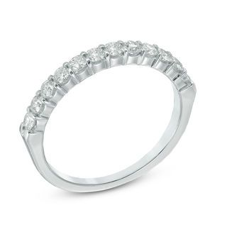 Previously Owned Ladies 1 2 Ct T W Certified Diamond Wedding Band In 14k White Gold I Si2 Pre Ow Diamond Wedding Bands Certified Diamond Wedding Bands
