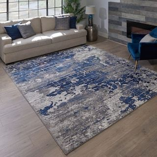 Avenue 33 New Style Cece Navy Area Rug Kohls In 2020 Blue Living Room Decor Rugs In Living Room Navy Living Rooms