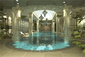 Roman Bath House Style Indoor Pool    Elaborate Bathing Pool, Maybe Elenau0027s  | Staria | Pinterest | Indoor Pools, Indoor And Bath Part 40