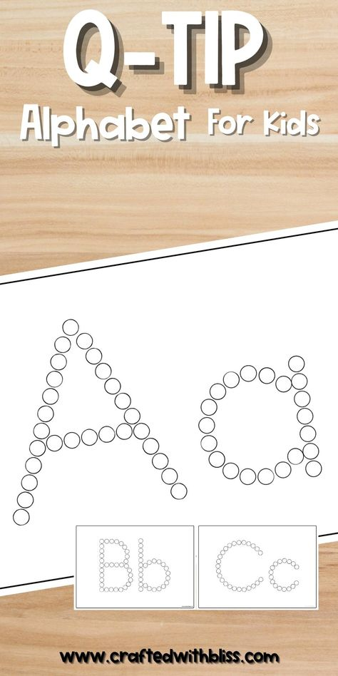 Q-TIP Alphabet Tracing Mats, Q-TIP Alphabet Activities - A to Z, Learning Alphabet, Printable
