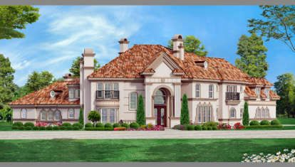 House Plan 5445 00153 Luxury Plan 5 057 Square Feet 5 Bedrooms 5 Bathrooms In 2020 Tuscan House Plans Luxury Plan Luxury House Plans