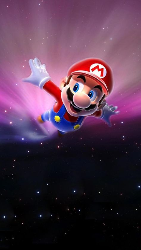 Hd Mobile Phone Wallpaper Mario Galaxy Galaxy Wallpaper