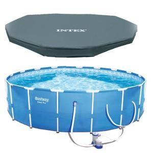 Intex 15 Ft X 48 In Deep Metal Frame Above Ground Round Pool And Maintenance Kit With Vac In Ground Pools Round Above Ground Pool Above Ground Swimming Pools