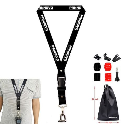 Chest Neck Lanyard Strap Mount Sports Camera Accessories Kit for GoPro HERO 4 Session 3 3+ 4