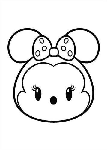 Coloring Page Tsum Tsum Minnie Com Imagens Paginas Para