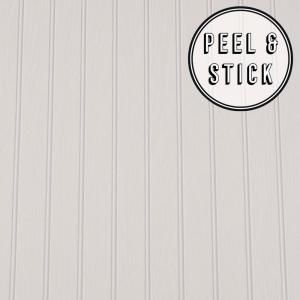 Transform Faux Beadboard Peel And Stick Removable Wallpaper 112552 The Home Depot Beadboard Beadboard Wallpaper Removable Wallpaper