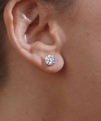 Best Size Diamond Stud Earrings Best Size Diamond Stud