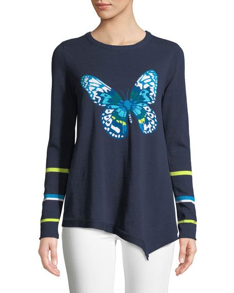 513940eb97129 Get free shipping on Lisa Todd Butterfly Asymmetric Cotton Sweater ...