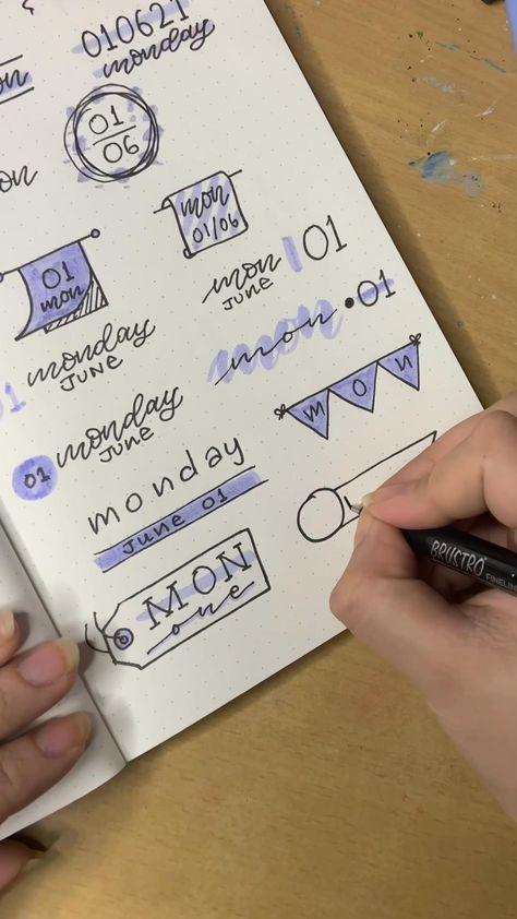 Journal Header Ideas - Step by Step