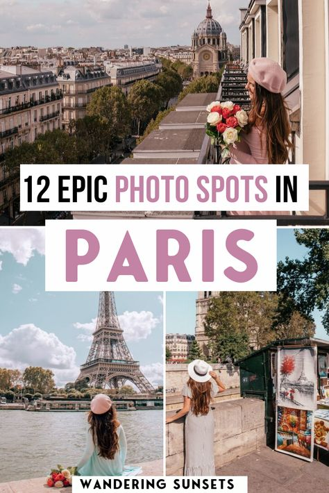 Here are 12 Epic Photo Spots in Paris for beautiful Instagram shots. The most Instagrammable places in Paris. Find out exactly where to go, when is the best time for photos and how to avoid the crowds at these pretty Paris Instagram spots | Paris photos | paris photograph | Instagrammable places in Paris | Instagram spots in Paris | Paris Photo Locations | Paris Photo Guide|