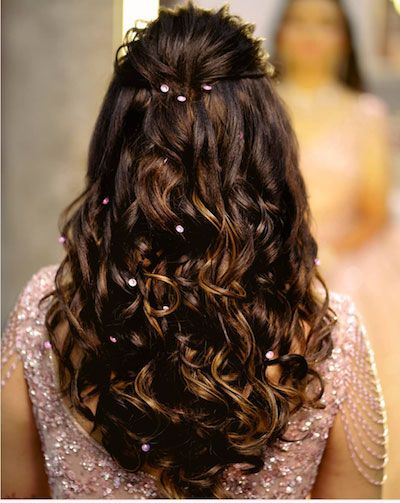 Trending Diwali Party Hairstyles For Your First Newly Wed Diwali Witty Vows Front Hair Styles Hair Styles Engagement Hairstyles