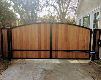Wooden Driveway Gate Kit Wrought Iron No Pickets Vertical Etsy Wooden Gates Driveway Wood Gates Driveway Driveway Gate
