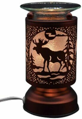 Metal Electric Touch Aroma Lamp Oil Warmer Tart Wax Melts Burner Moose Cabin In 2020 Oil Warmer Tart Burner Electric Oil Warmer