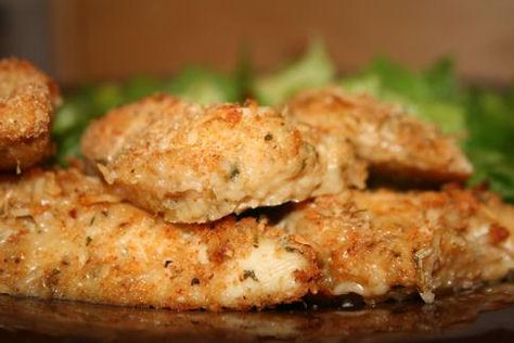 Weight Watchers Parmesan Chicken Cutlets.  My husband even loves these!!