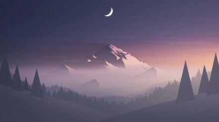 Geometric Landscape 4k Hd Wallpapers Di 2020 Pemandangan Anime Latar Belakang Pemandangan