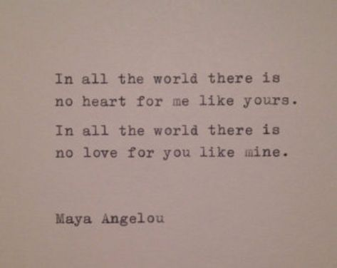 Maya Angelou Love Quote Hand Typed on Typewriter