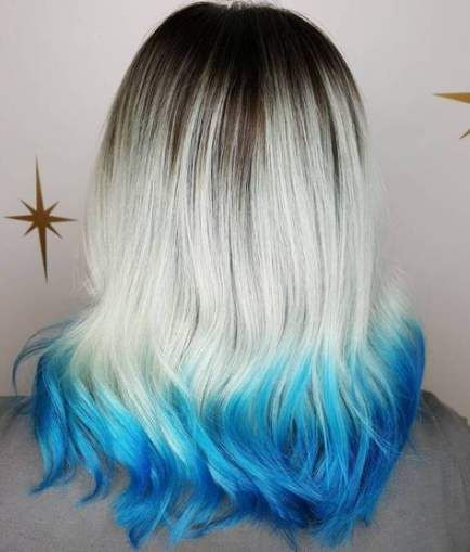 Hair Tips Dyed Blonde Dip Dye 54 Ideas Blonde Dip Dye Colored Hair Tips Dyed Tips