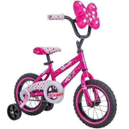 Disney Minnie Mouse 12 Inch Bike By Huffy Pink Walmart Com Kids Bike Pink Bike Childrens Bike