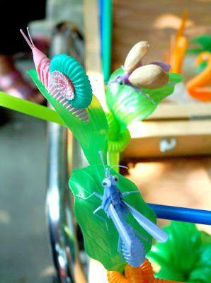 Drinking Straw Artworks Plastic Bottle Art Straw Art Bottle Art