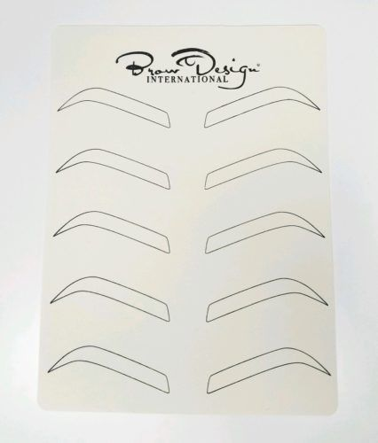 photograph regarding Eyebrow Template Printable referred to as Forehead Style Pre-Drawn Templates Microblading within just 2019