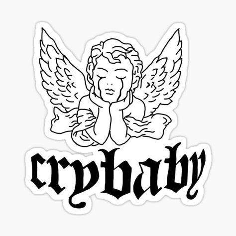Cry Baby Tattoo, Baby Angel Tattoo, Baby Tattoos, Mini Tattoos, Small Tattoos, Angels Tattoo, Dope Tattoos, Tattoos For Guys, Tattoo Sketches