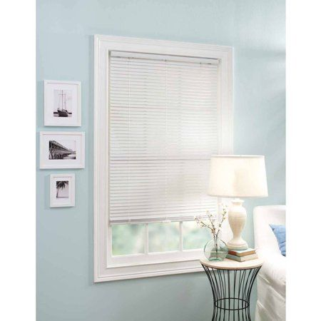 Better Homes And Garden 1 Vinyl Cordless Mini Blind 23 Width X 64 Length White Formaldiningrooms Vinyl Mini Blinds Better Homes And Gardens Mini Blinds