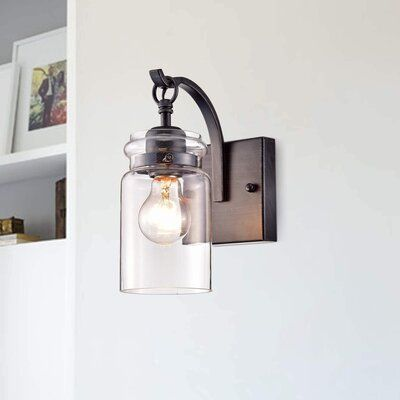 Andover Mills Pitchford 1 Light Dimmable Antique Black Armed Sconce Wall Sconce Lighting Wall Lights Wall Sconces