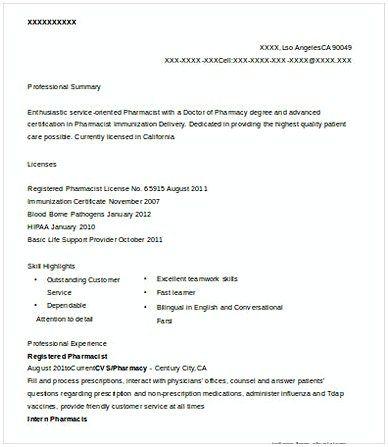 Registered Pharmacist Resume Pharmacy Manager Resume If You Are Applying For Pharmacy Manager Read This Pharmacy Manager Manager Resume Resume Management