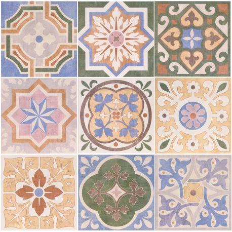 Carrelage Design Mural Mat Multicolore 20 X 20 Cm Ce0111016