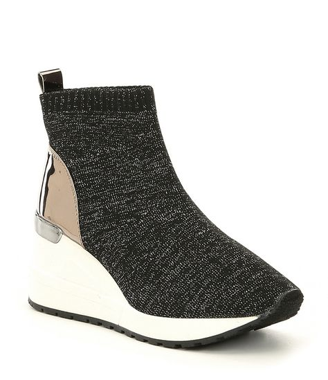 sharp Immersion Christmas  MICHAEL Michael Kors Girls' Neo Flex Metallic Knit Wedge Sneaker | Girls wedge  sneakers, Black wedge sneakers, Women shoes