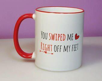 She Swiped Right Mug Im Glad I Swiped Right Mug New Boyfriend Gifts New Girlfriend Gifts Im So Glad I Swiped Right Mug Ceramic Coffee Cup New Relationship Gifts Valentines Day Gifts