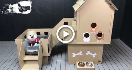 How To Make Amazing Puppy Dog House From Cardboard House Diy