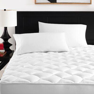 Alwyn Home Saffo 1 Polyester Mattress Topper Bed Size Twin Xl In 2020 Mattress Mattress Pad Foam Mattress