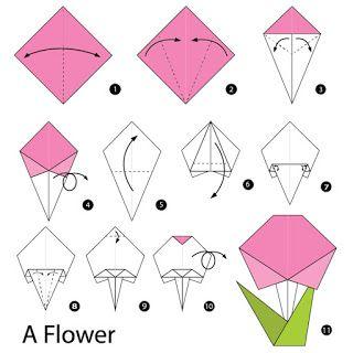 صور مطويات 2021 اشكال مطويات بالورق الملون Origami Flowers Origami Cards