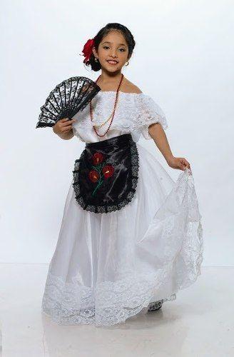 Vestido Jarocha Veracruzana Regional Tipico Veracruz Traje De Veracruz Traje De Mariachi Mujer Vestido De Veracruz