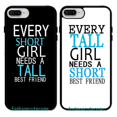 9.99AUD - Every Tall Girl Need A Short Best Friend Bff Rubber Case For Iphone 8 Plus 7 6 5 #ebay #Electronics