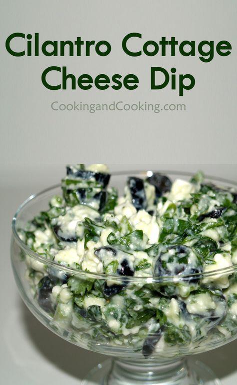 Cilantro Cottage Cheese Dip Recipe