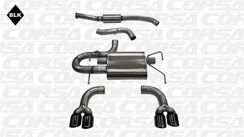 Corsa Black CatBack Exhaust System 08-14 Subaru Impreza