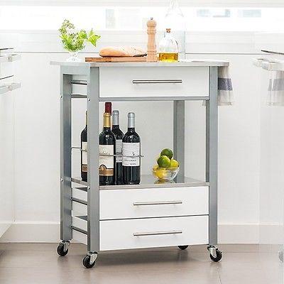 Die besten 25+ Küchenwagen edelstahl Ideen auf Pinterest - Arbeitsplatte Küche Edelstahl