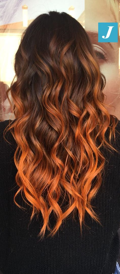 Orange|Copper Degradé Joelle #cdj #degradejoelle #tagliopuntearia #degradé #igers #musthave #hair #hairstyle #haircolour #longhair #ootd #hairfashion #madeinitaly #wellastudionyc