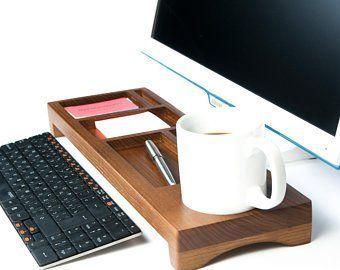 Office Wooden Desk Accessories For Men Waid Ds7 Dark Wenge Etsy Organizer Wohnung Dekoration Dekoration
